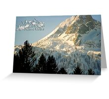 Mountain Christmas 2 ~ Austria ~ Europe Greeting Card