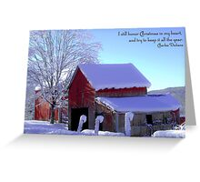 Connecticut Christmas ~ Connecticut ~ USA Greeting Card