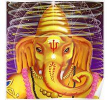 Ganesha and Helmet Poster