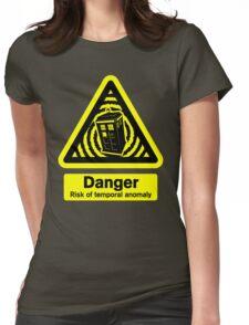 Tardis Danger! Womens Fitted T-Shirt