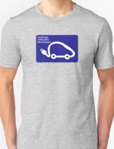 Recharge Station Electric Cars, Traffic Sign, France T-Shirt