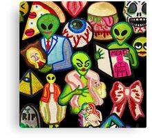 Bad Aliens Trick Or Treat Canvas Print