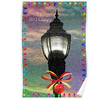Happy Holiday's Lamppost Poster