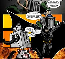Page 2 of Good Game Batman Comic submission - Colourised! by Michael Lee