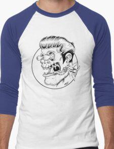 Freaky Frankie (Black Lines) Men's Baseball ¾ T-Shirt