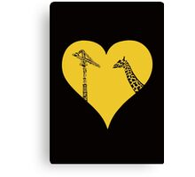 Giraffes Love Cranes Canvas Print
