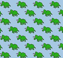 Cute Triceratops pattern by jezkemp