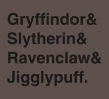 Hogwarts Houses Kids Clothes