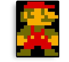 8 Bit Mario Canvas Print