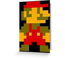 8 Bit Mario Greeting Card
