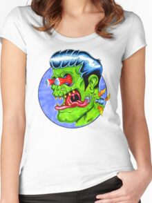 Freaky Frankie (Color) Women's Fitted Scoop T-Shirt