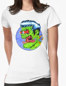 Freaky Frankie (Color) Womens Fitted T-Shirt