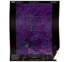 USGS Topo Map Washington State WA Pinegrass Ridge 243137 2000 24000 Inverted Poster