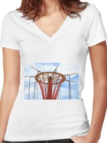 Top of a Playground Structure Women's Fitted V-Neck T-Shirt