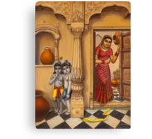 Krisha makhan chor Canvas Print