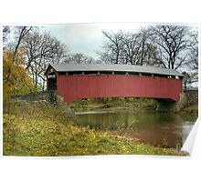 Sam Wagner Covered Bridge In Autumn Poster
