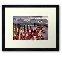 Ragged Wood Framed Print