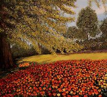 Tulip Garden by Anna  Holbert
