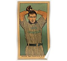 Benjamin K Edwards Collection Sutor San Francisco Team baseball card portrait Poster