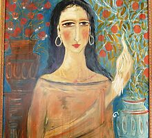 lady with clay jars by catherine walker
