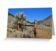 Ranching Remnants Greeting Card