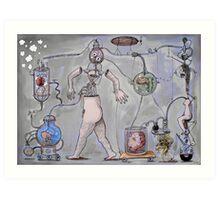 strange worlds from a strange mind No:5 - modern family Art Print