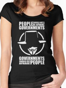 People Should Not Be Afraid of Their Governments Women's Fitted Scoop T-Shirt
