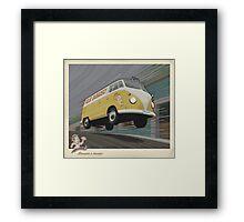 Vintage Air-Cooled Van Poster Framed Print