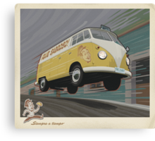 Vintage Air-Cooled Van Poster Canvas Print