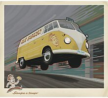 Vintage Air-Cooled Van Poster Photographic Print
