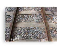 Steel Railway Tracks Canvas Print