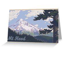 Vintage Mount Hood Travel Poster Greeting Card