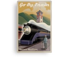 Vintage Union Train Station Metal Print