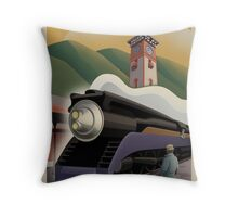 Vintage Union Train Station Throw Pillow