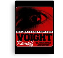 Voigt Kampf Replicant Empathy Test Canvas Print