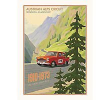 Vintage Austrian Rally Poster Photographic Print