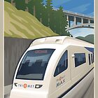Vintage Max Light Rail Travel Poster by mitchfrey