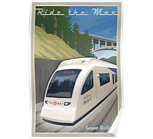 Vintage Max Light Rail Travel Poster Poster