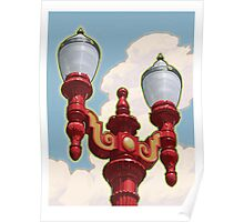 Chinatown Street Light in Portland, Oregon Poster