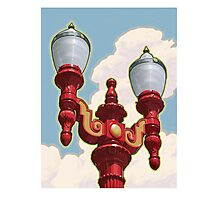 Chinatown Street Light in Portland, Oregon Photographic Print