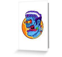Freaky Frankie (Blue Variant) Greeting Card