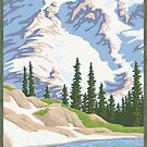Vintage Mount Rainier Travel Poster by mitchfrey