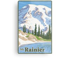 Vintage Mount Rainier Travel Poster Metal Print