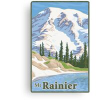 Vintage Mount Rainier Travel Poster Canvas Print