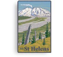 Vintage Mount St. Helens Travel Poster Canvas Print