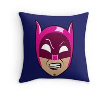 B-Man Pink Cowl Throw Pillow