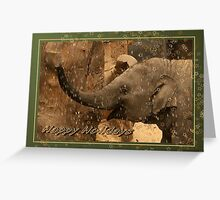 Little elephant stars - Happy Holidays Greeting Card
