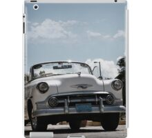 Classic White Chevy Convertible iPad Case/Skin
