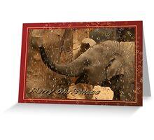 Little elephant stars - Merry Christmas Greeting Card