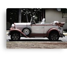Classic Old Convertible Car Canvas Print